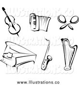 Royalty Free Stock Illustration of Black and White Instruments by Vector Tradition SM