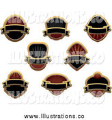 August 26th, 2014: Royalty Free Stock Illustration of Blank Gold and Black Labels by Vector Tradition SM