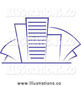 Royalty Free Stock Illustration of Blue Skyscrapers by Vector Tradition SM