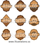 April 2nd, 2014: Royalty Free Stock Illustration of Brown Labels by Vector Tradition SM