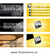 Royalty Free Stock Illustration of Business Card or Background Designs by Vector Tradition SM