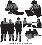 Royalty Free Stock Illustration of Businessman Silhouettes by Dero