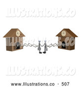 Royalty Free Stock Illustration of Cuckoo Businessmen Making a Deal by 3poD