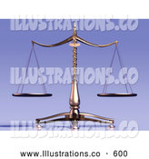 Royalty Free Stock Illustration of Equal Brass Weight Scales of Justice by Anastasiya Maksymenko