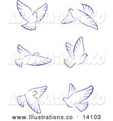Royalty Free Stock Illustration of Flying Doves by Vector Tradition SM