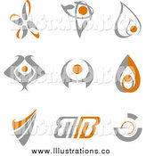 Royalty Free Stock Illustration of Gray and Orange Designs by Vector Tradition SM