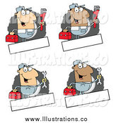 November 8th, 2014: Royalty Free Stock Illustration of Happy Male Plumber and Mechanics by Hit Toon