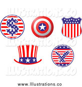 Royalty Free Stock Illustration of Patriotic American Hat and Shield Design Elements by Vector Tradition SM