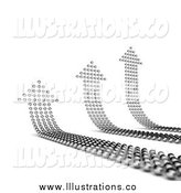 Royalty Free Stock Illustration of Three up Arrows Made of Balls by Stockillustrations