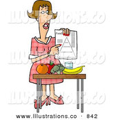 Royalty Free Stock IllustrationHelpful Female Dietitian Teaching the Public About Food and Nutrition by Djart