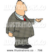 Stock Illustration of a Businessman Pointing His Finger to the Right by Djart