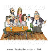Stock Illustration of a Businessman Showing up Late to an Informal Office Party by Djart