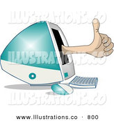 Stock Illustration of a Thumbs up for Apples New IMac Computer and Monitor by Djart