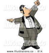 Stock Illustration of ADining Room Attendant in a Dinner Suit Whos in Charge of the Waiters and the Seating of Customers by Dennis Cox