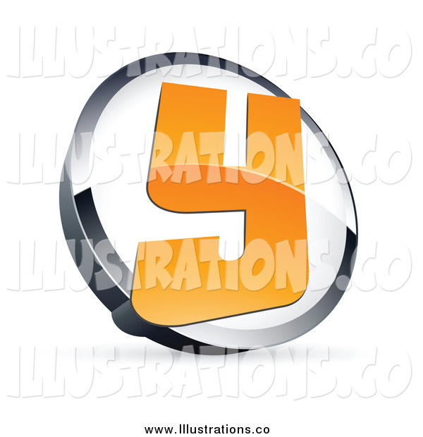 Royalty Free Stock Illustration of a 3d Letter Y in a Circle
