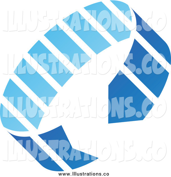 Royalty Free Stock Illustration of a Blue Circle Arrow Icon