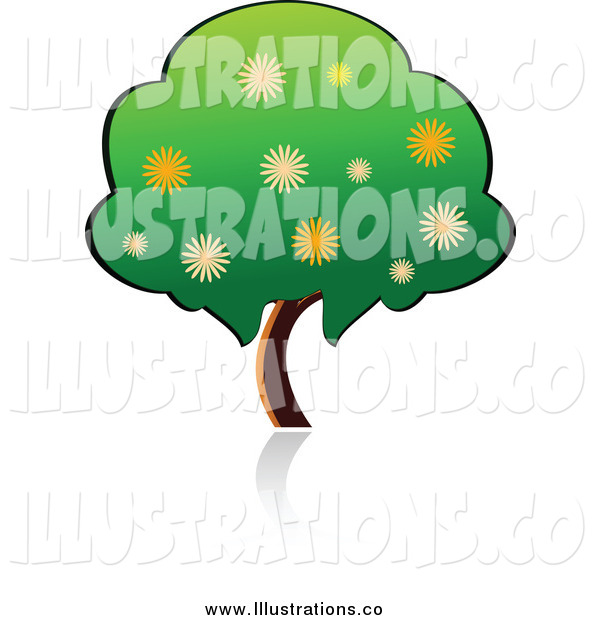 Royalty Free Stock Illustration of a Flowering Tree