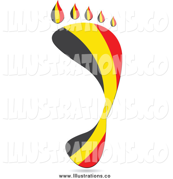 Royalty Free Stock Illustration of a Footprint Belgium Flag