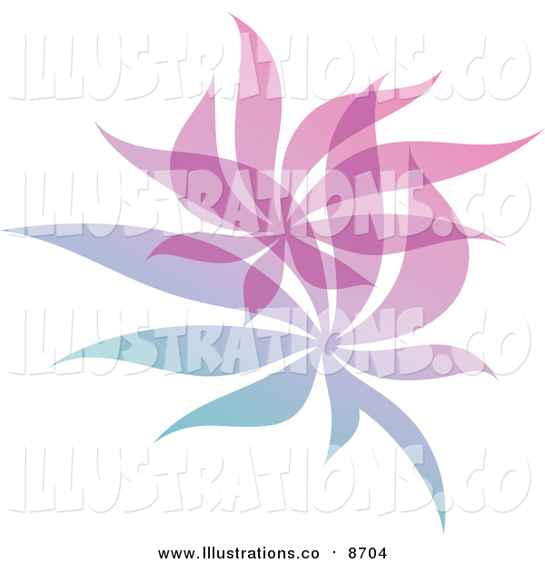 Royalty Free Stock Illustration of a Gradient Leaf Overlay Logo