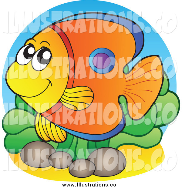Royalty Free Stock Illustration of a Happy Tropical Fish