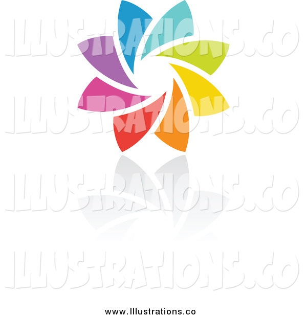 Royalty Free Stock Illustration of a Rainbow Circle and Shadow