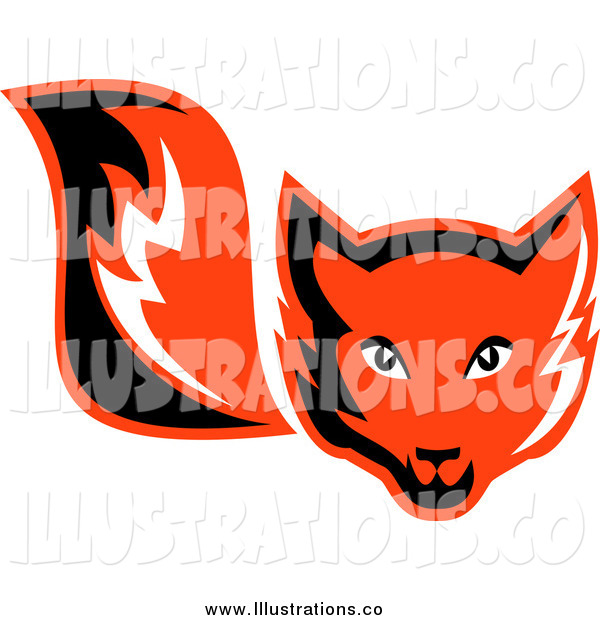 Royalty Free Stock Illustration of a Retro Red Fox