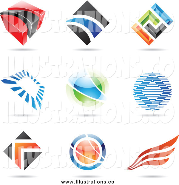Royalty Free Stock Illustration of Abstract Logos