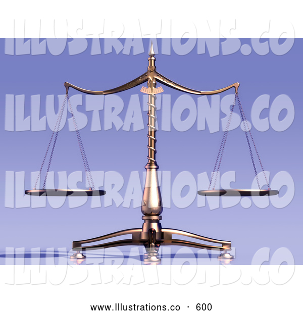 Royalty Free Stock Illustration of Equal Brass Weight Scales of Justice