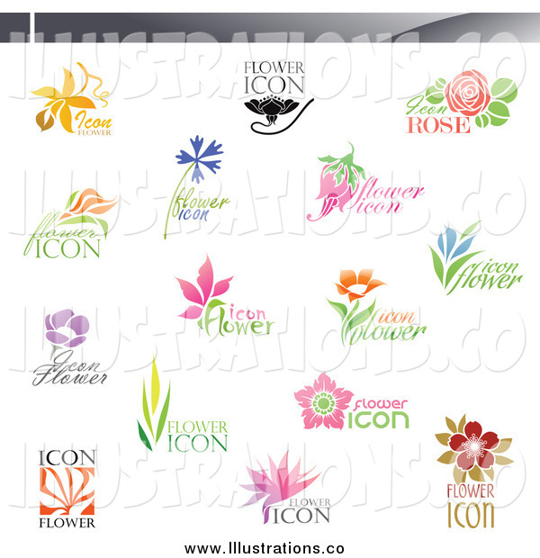 Royalty Free Stock Illustration of Floral Icons