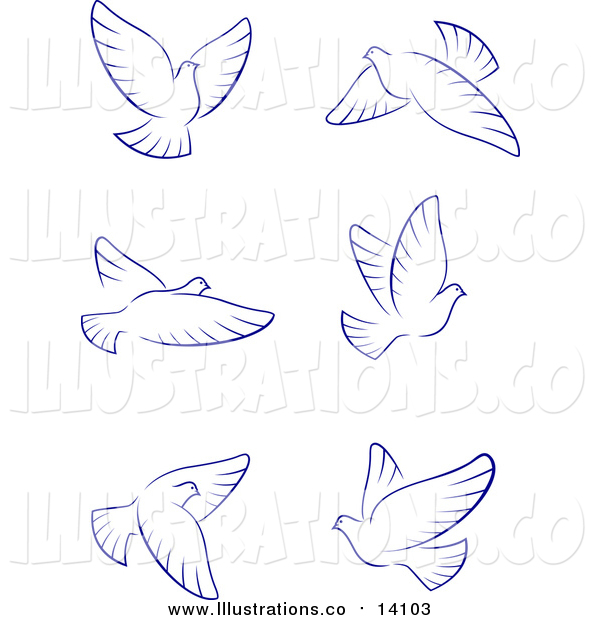 Royalty Free Stock Illustration of Flying Doves
