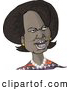 Royalty Free Illustration of a 66th United States Secretary of State, Condoleezza Rice, Caricature on White by Djart