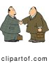 Royalty Free Illustration of a Pair of Businessmen Shaking Hands by Djart