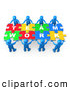 Royalty Free Stock Illustration of a Completed Jigsaw Puzzle That Spells out Team Work by 3poD