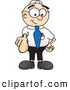 Royalty Free Stock Illustration of a Friendly Male Caucasian Office Nerd Business Man Mascot Character Pointing at the Viewer by Toons4Biz