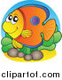 Royalty Free Stock Illustration of a Happy Tropical Fish by Visekart